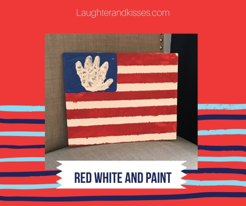 red white and paint