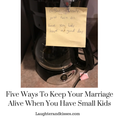 Five ways to keep your marriage alive when you have small kids